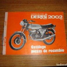 Coches y Motocicletas: (TC-123) CATALOGO PIEZAS DE RECAMBIO DERBI 2002 6V . Lote 124704951