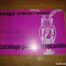 Coches y Motocicletas: (TC-123) CATALOGO PIEZAS DE RECAMBIO DERBI AUTOMATICOS 2 VELOCIDADES. Lote 124706211