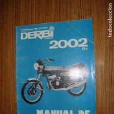 Coches y Motocicletas: (TC-123) MANUAL DE REPARACIONES DERBI 2002 6V. Lote 124706771