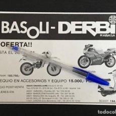 Coches y Motocicletas: DERBI RABASA BASOLI SAVANNAH SCOOT APRILIA - RECORTE PRENSA REVISTA ANUNCIO PUBLICIDAD. Lote 125098139