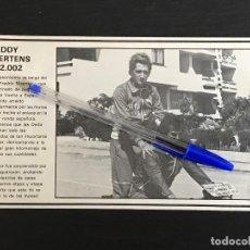 Coches y Motocicletas: DERBI 2002 FREDDDY MAERTENS VUELTA A ESPAÑA - RECORTE PRENSA REVISTA ANUNCIO PUBLICIDAD. Lote 125098811