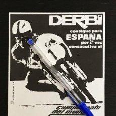 Coches y Motocicletas: DERBI NIETO 2º CAMPEONATO DEL MUNDO - RECORTE PRENSA REVISTA ANUNCIO PUBLICIDAD. Lote 125098991