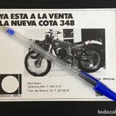 Coches y Motocicletas: MONTESA COTA 348 COMERCIAL IMPALA BARCELONA - RECORTE PRENSA REVISTA ANUNCIO PUBLICIDAD. Lote 125099407