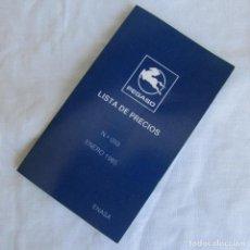 Coches y Motocicletas: TRÍPTICO LISTA DE PRECIOS. ENERO 1985. CAMIONES, FURGONES, AUTOCARES Y AUTOBUSES PEGASO. Lote 125130335