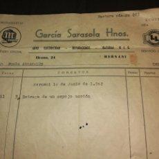 Coches y Motocicletas: FACTURA MOTOCICLETAS MONTESA 1962. Lote 125325542