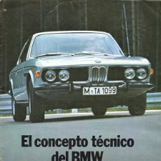 Coches y Motocicletas: BMW EL CONCEPTO TÉCNICO VISTOSO CATÁLOGO 8 PÁGINAS EN ESPAÑOL 1971. Lote 125947303