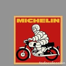 Coches y Motocicletas: REPRODUCIÓN EN AZULEJO 20X20 DE PUBLICAD VINTAGE MICHELIN. Lote 126486119