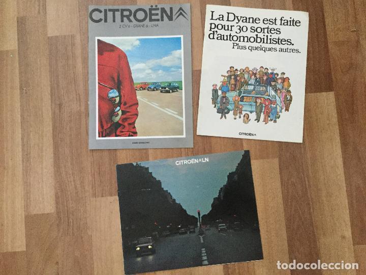 CITROEN CATALOGO DYANE 6 2CV 6, LNA 1986.LINA BERLINE, CHARLESTON (Coches y Motocicletas Antiguas y Clásicas - Catálogos, Publicidad y Libros de mecánica)