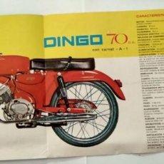 Coches y Motocicletas: 3 CATALOGO TECNICO MOTO GUZZI HISPANIA DINGO 70CC 1966. Lote 126791631