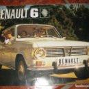 Coches y Motocicletas: ANTIGUO CATALOGO PUBLICIDAD RENAULT 6 . DESPLEGABLE . 1970. Lote 126826527