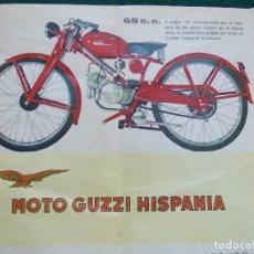 Coches y Motocicletas: PUBLICIDAD DE MOTO GUZZI HISPANIA. Lote 128014391