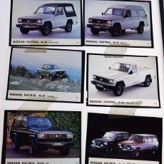 Coches y Motocicletas: NISSAN PATROL 1991 – 6 TRANSPARENCIAS 9 X 12 PRENSA. PICK-UP, CANARIAS, MERCA, FOREST, TOP-LINE, BS.. Lote 128131211
