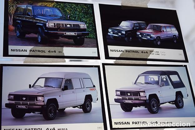 Coches y Motocicletas: Nissan Patrol 1991 – 6 transparencias 9 x 12 prensa. Pick-up, Canarias, Merca, Forest, Top-Line, BS. - Foto 2 - 128131211