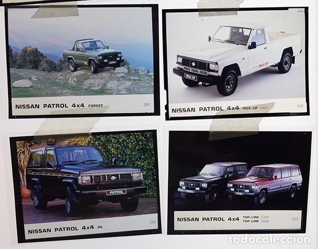 Coches y Motocicletas: Nissan Patrol 1991 – 6 transparencias 9 x 12 prensa. Pick-up, Canarias, Merca, Forest, Top-Line, BS. - Foto 4 - 128131211
