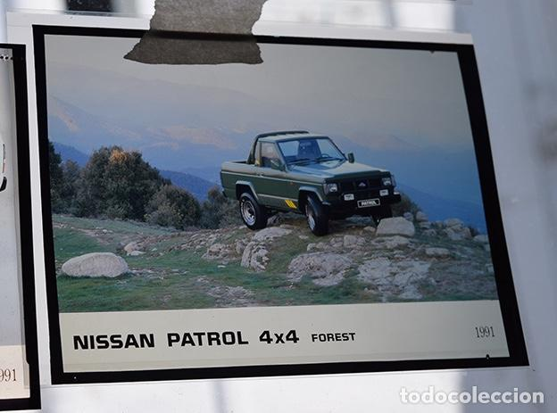 Coches y Motocicletas: Nissan Patrol 1991 – 6 transparencias 9 x 12 prensa. Pick-up, Canarias, Merca, Forest, Top-Line, BS. - Foto 2 - 128131211