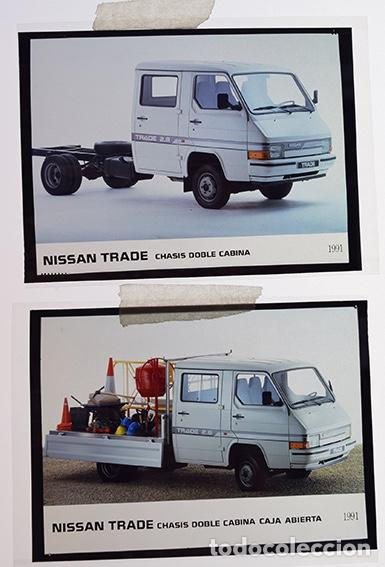 NISSAN TRADE CHASIS DOBLE CABINA1991 – 2 TRANSPARENCIAS 9 X 12 CM PARA PRENSA Y PUBLICIDAD (Coches y Motocicletas Antiguas y Clásicas - Catálogos, Publicidad y Libros de mecánica)