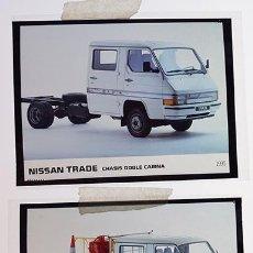 Coches y Motocicletas: NISSAN TRADE CHASIS DOBLE CABINA1991 – 2 TRANSPARENCIAS 9 X 12 CM PARA PRENSA Y PUBLICIDAD. Lote 128186003