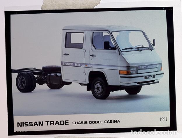 Coches y Motocicletas: Nissan Trade chasis doble cabina1991 – 2 transparencias 9 x 12 cm para prensa y publicidad - Foto 2 - 128186003