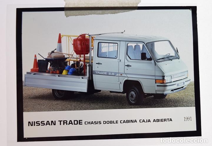 Coches y Motocicletas: Nissan Trade chasis doble cabina1991 – 2 transparencias 9 x 12 cm para prensa y publicidad - Foto 3 - 128186003