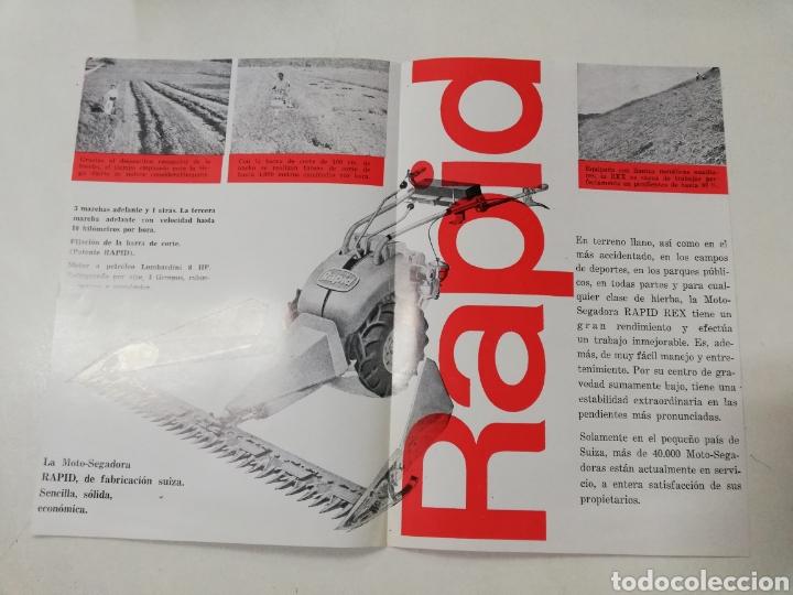 Coches y Motocicletas: RAPID REX MOTO SEGADORA FOLLETO MAQUINARIA AGRICOLA. - Foto 2 - 128250472