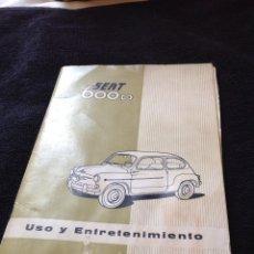 Coches y Motocicletas: CATALOGO SEAT 600D Y 600D DESCAPOTABLE. Lote 128426391