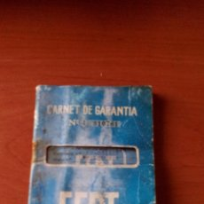 Coches y Motocicletas: CARNET DE GARANTIA SEAT 124 - AÑO 1968. Lote 128654219