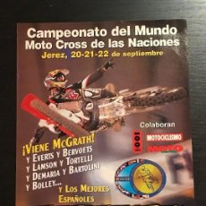 Coches y Motocicletas: MOTO CROSS NACIONES JEREZ MOTOCROSS MUNDIAL EVERTS BERVOETS - ANUNCIO RECORTE PUBLICIDAD DE REVISTA. Lote 128678099