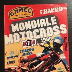 Coches y Motocicletas: MOTO CROSS MOTOCROSS MUNDIAL 1988 ITALIA EL CHARRO - ANUNCIO RECORTE PUBLICIDAD DE REVISTA. Lote 128678127