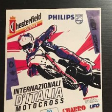 Coches y Motocicletas: MOTO CROSS MOTOCROSS INTERNACIONAL ITALIA - ANUNCIO RECORTE PUBLICIDAD DE REVISTA. Lote 128678191