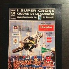 Coches y Motocicletas: I SUPERCROSS CIUDAD DE LA CORUÑA MOTO SUPER CROSS - ANUNCIO RECORTE PUBLICIDAD DE REVISTA. Lote 128678239