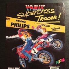 Coches y Motocicletas: SUPERCROSS PARIS FRANCIA TRACER MOTO SUPER CROSS - ANUNCIO RECORTE PUBLICIDAD DE REVISTA. Lote 128678275
