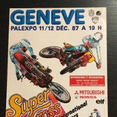 Coches y Motocicletas: SUPERCROSS GENEVE GINEBRA MOTO SUPER CROSS - ANUNCIO RECORTE PUBLICIDAD DE REVISTA. Lote 128678323
