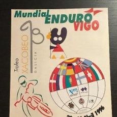 Coches y Motocicletas: ENDURO MUNDIAL VIGO PONTEVEDRA MOTO GALICIA - ANUNCIO RECORTE PUBLICIDAD DE REVISTA. Lote 128678351