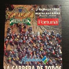 Coches y Motocicletas: SUPER ENDURO MATALASCAÑAS ANDALUCIA MOTO HUELVA - ANUNCIO RECORTE PUBLICIDAD DE REVISTA. Lote 128678375