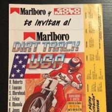 Coches y Motocicletas: DIRT TRACK USA CIRCUITO CATALUNYA KENNY ROBERTS LAWSON MAMOLA- ANUNCIO RECORTE PUBLICIDAD DE REVISTA. Lote 128678439