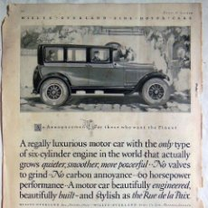Coches y Motocicletas: THE NEW WILLYS KNIGHT SIX. 1925. Lote 128691659