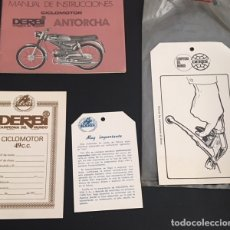 Coches y Motocicletas: CATALOGO MANUAL DE INSTRUCCIONES ORIGINAL Y OTROS EXTRAS DEL CICLOMOTOR DERBI ANTORCHA. Lote 128702834