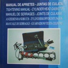Coches y Motocicletas: MANUAL DE APRIETES JUNTAS DE CULATA AJUSA 1997 MECANICA MECANICO. Lote 128932667