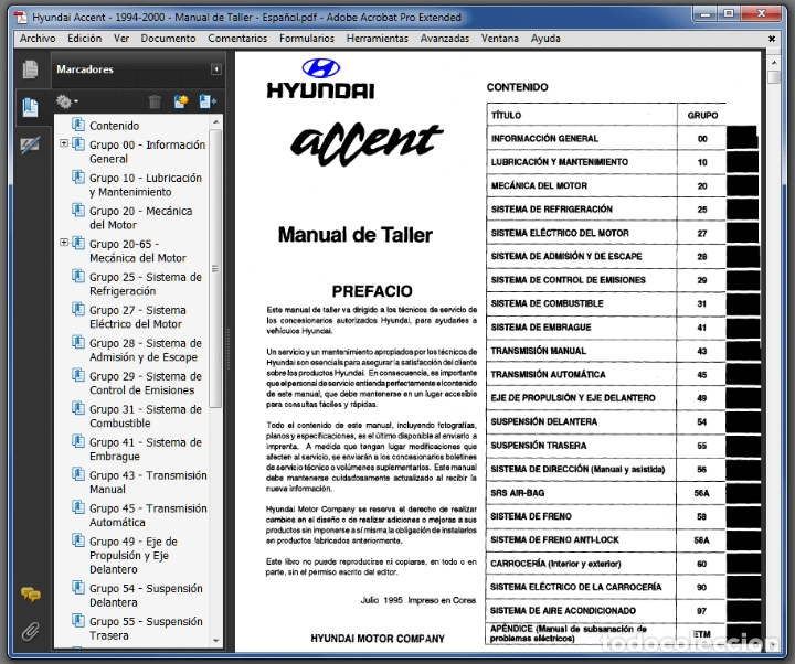 Coches y Motocicletas: Hyundai Accent - Series (1994-2000) - Manual de Taller - Español - Foto 3 - 102806363