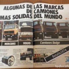 Coches y Motocicletas: PUBLICIDAD CAMIONES DODGE - SCANIA - MERCEDES - VOLVO - AÑO 1978. Lote 129354339