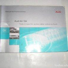 Coches y Motocicletas: MANUAL PROPIETARIO AUDI A4/S4. Lote 129360283