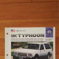 Coches y Motocicletas: LAMINA GMC TYPHOON. Lote 129515303