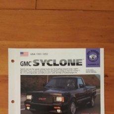 Coches y Motocicletas: LAMINA GMC SYCLONE. Lote 129515639
