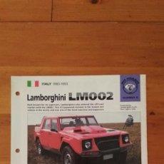 Coches y Motocicletas: LAMINA LAMBORGHINI LM002. Lote 129515691