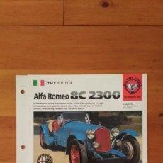 Coches y Motocicletas: LAMINA ALFA ROMEO 8C 2300. Lote 129516215