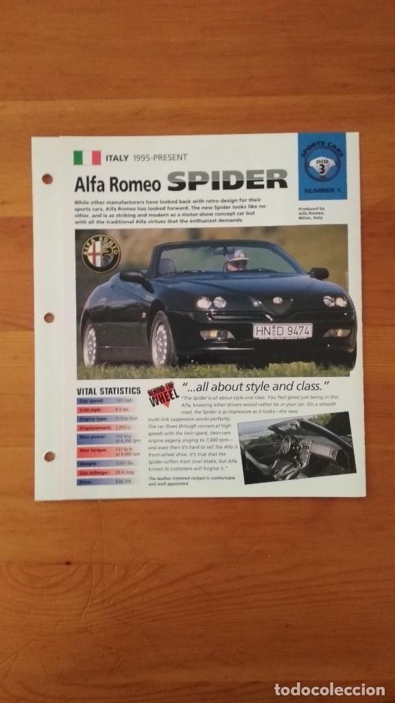 LAMINA ALFA ROMEO SPIDER (Coches y Motocicletas Antiguas y Clásicas - Catálogos, Publicidad y Libros de mecánica)