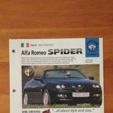 Coches y Motocicletas: LAMINA ALFA ROMEO SPIDER. Lote 129518707