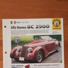 Coches y Motocicletas: LAMINA ALFA ROMEO 8C 2900. Lote 129518887