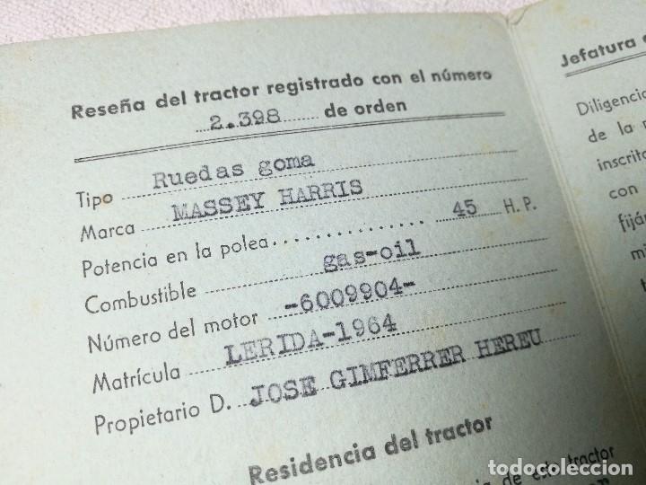 Coches y Motocicletas: CARTILLA TRACTOR MASSEY HARRIS ---LERIDA 1957 - Foto 4 - 129577043