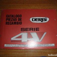 Coches y Motocicletas: (TC-124) CATALOGO PIEZAS DE RECAMBIO DERBI SERIE 4V . Lote 130081971